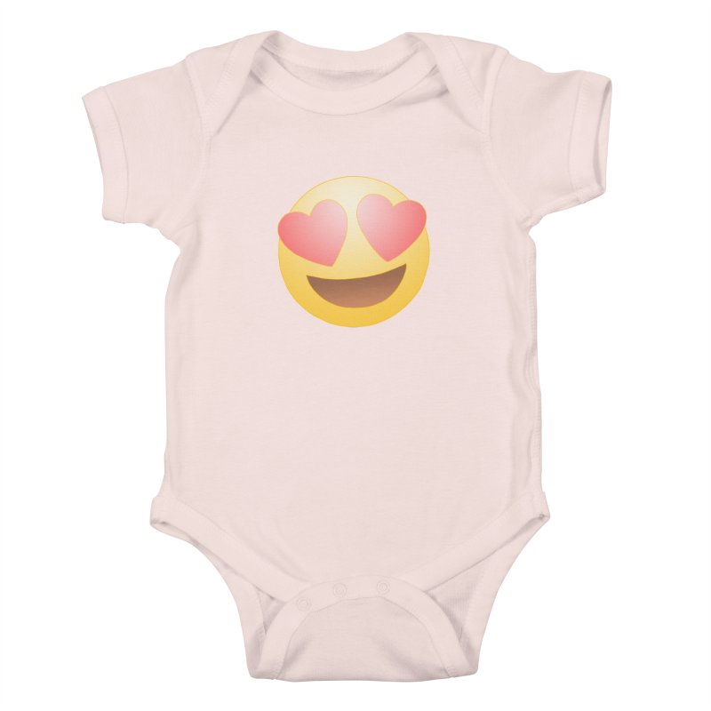 Emoji in Love Kids Baby Bodysuit by BRETT WISEMAN