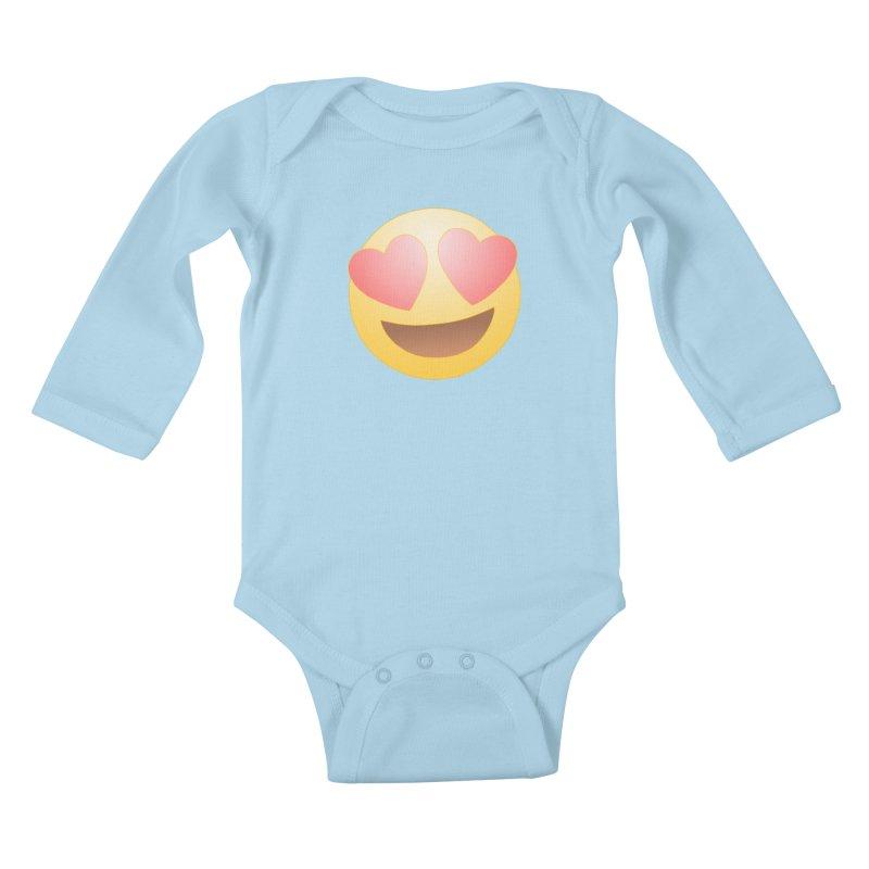 Emoji in Love Kids Baby Longsleeve Bodysuit by BRETT WISEMAN