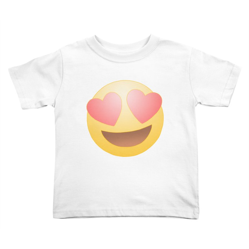 Emoji in Love Kids Toddler T-Shirt by BRETT WISEMAN