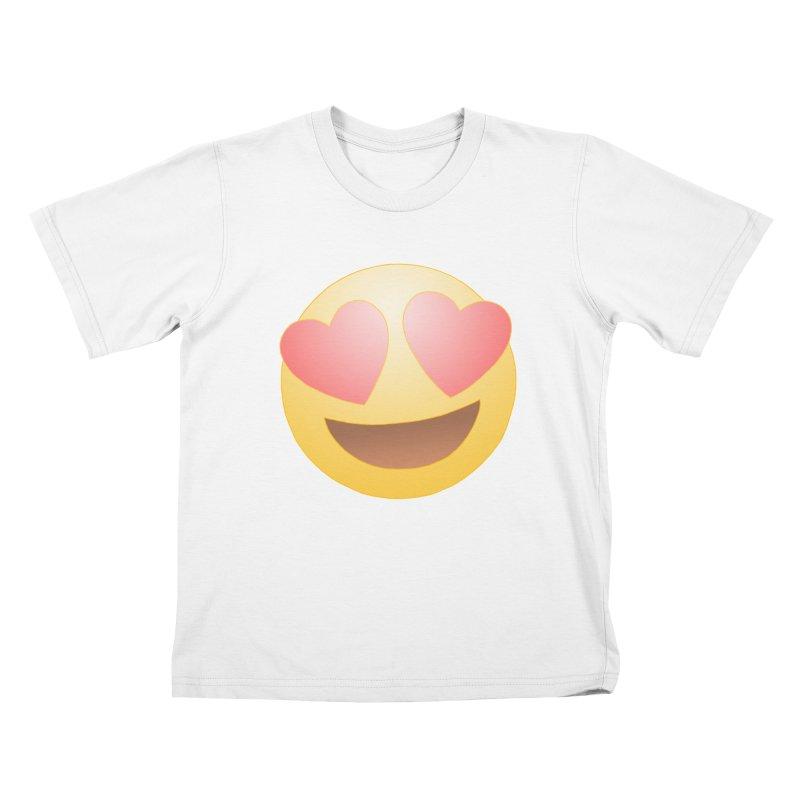 Emoji in Love Kids T-Shirt by BRETT WISEMAN