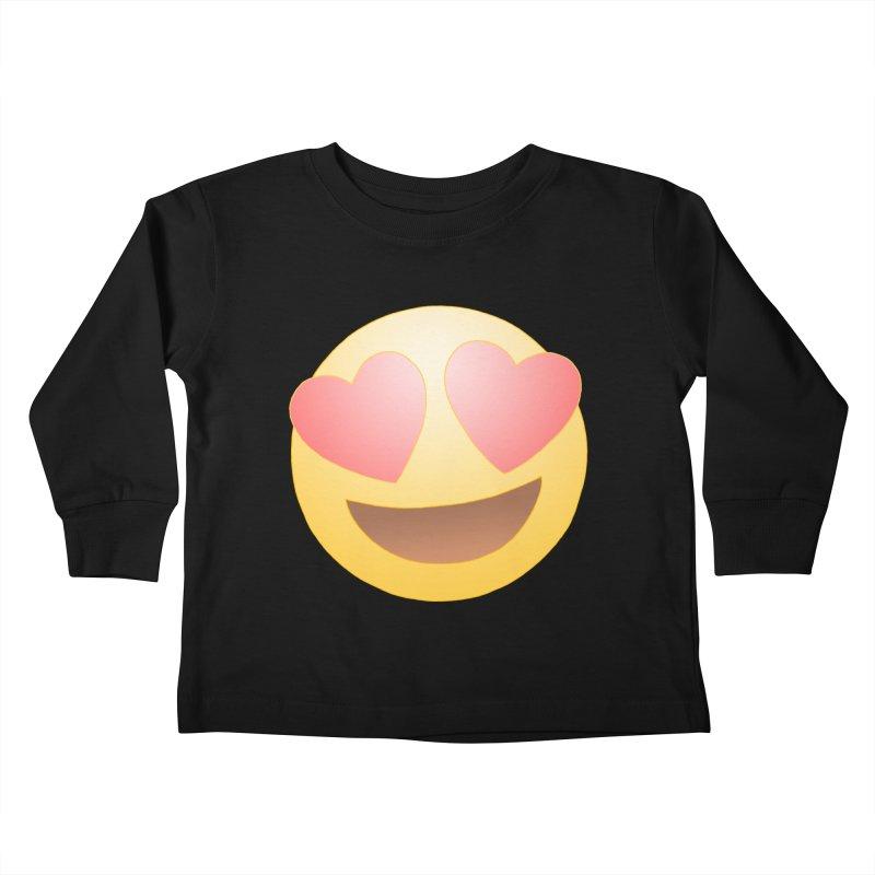 Emoji in Love Kids Toddler Longsleeve T-Shirt by BRETT WISEMAN