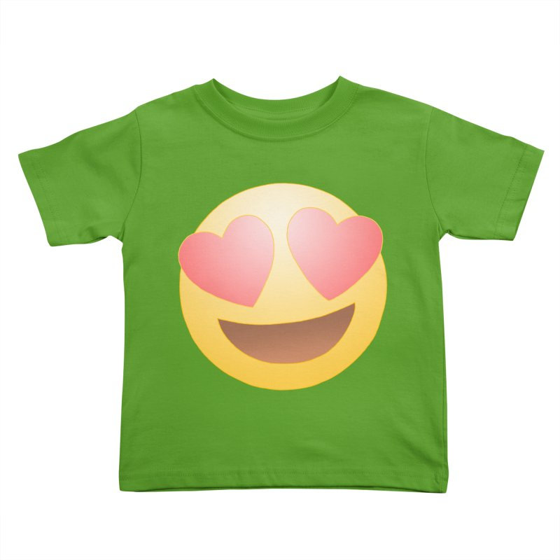 Emoji in Love Kids Toddler T-Shirt by BRETT WISEMAN