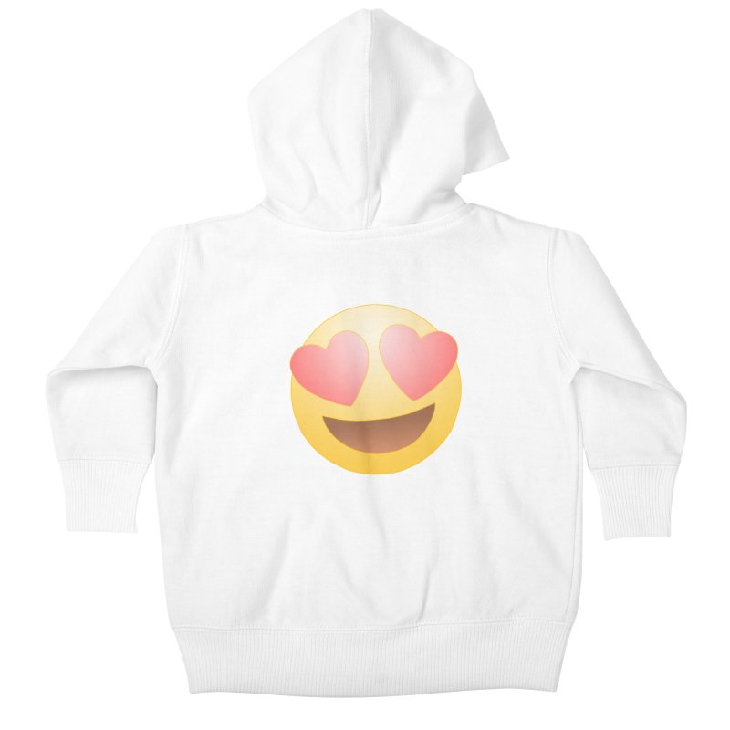 Emoji in Love Kids Baby Zip-Up Hoody by BRETT WISEMAN