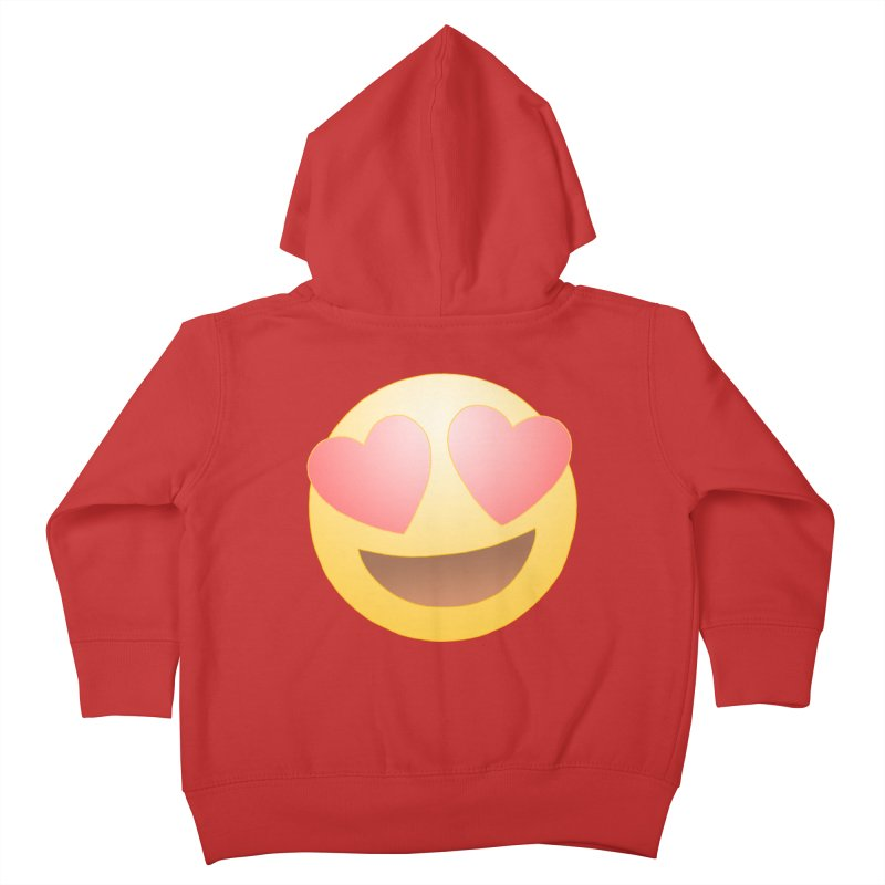 Emoji in Love Kids Toddler Zip-Up Hoody by BRETT WISEMAN