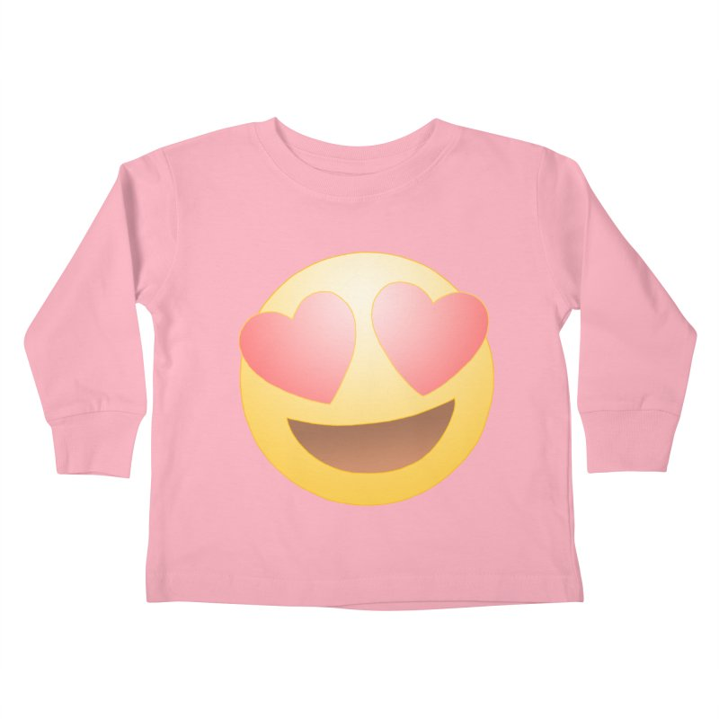 Emoji in Love Kids Toddler Longsleeve T-Shirt by BRETT WISEMAN