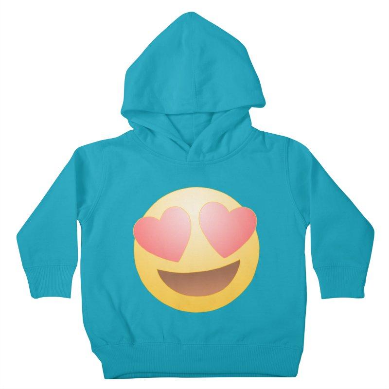 Emoji in Love Kids Toddler Pullover Hoody by BRETT WISEMAN