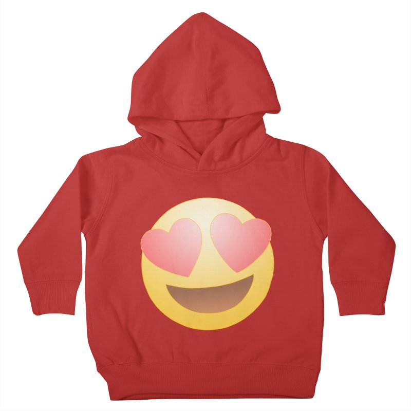 Emoji in Love Kids Toddler Pullover Hoody by BRETT WISEMAN