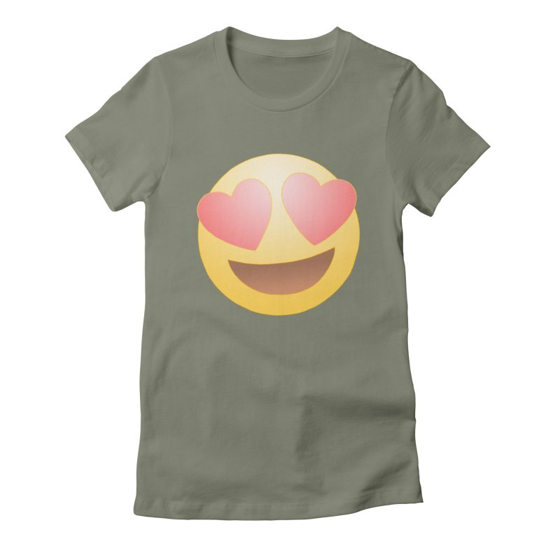 Emoji in Love Women's T-Shirt by BRETT WISEMAN