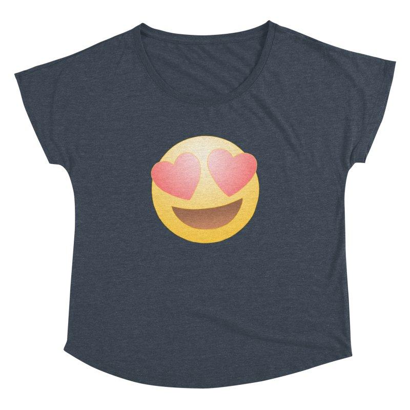 Emoji in Love Women's Dolman by BRETT WISEMAN