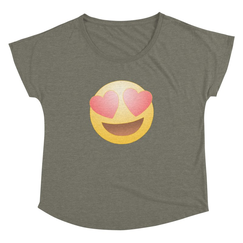 Emoji in Love Women's Dolman Scoop Neck by BRETT WISEMAN