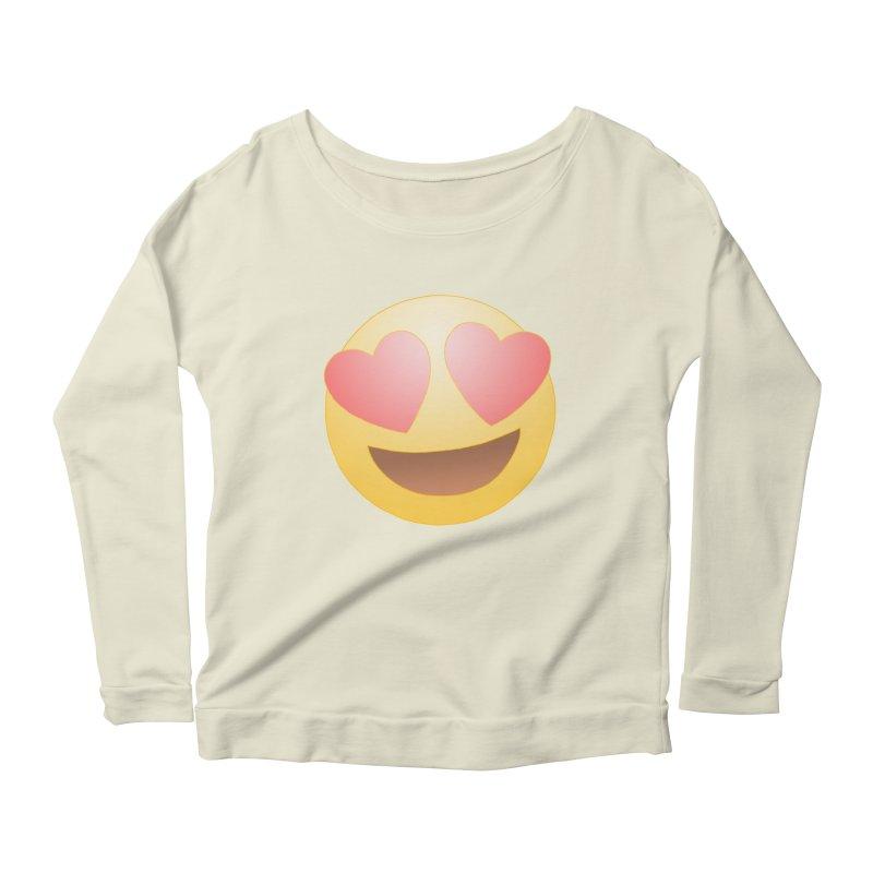 Emoji in Love Women's Longsleeve Scoopneck  by BRETT WISEMAN