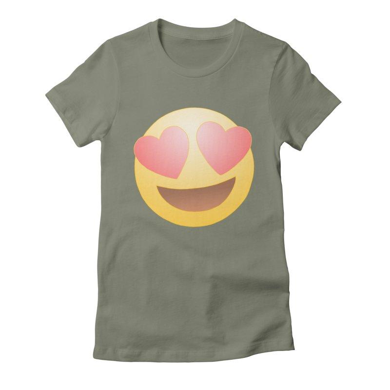 Emoji in Love Women's Fitted T-Shirt by BRETT WISEMAN