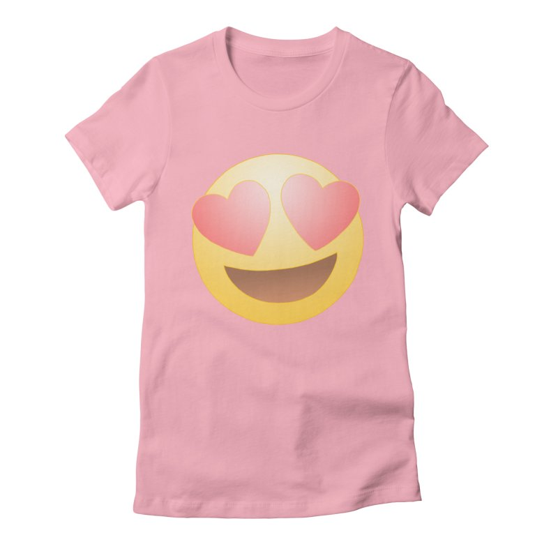 Emoji in Love Women's Fitted T-Shirt by BRETT WISEMAN