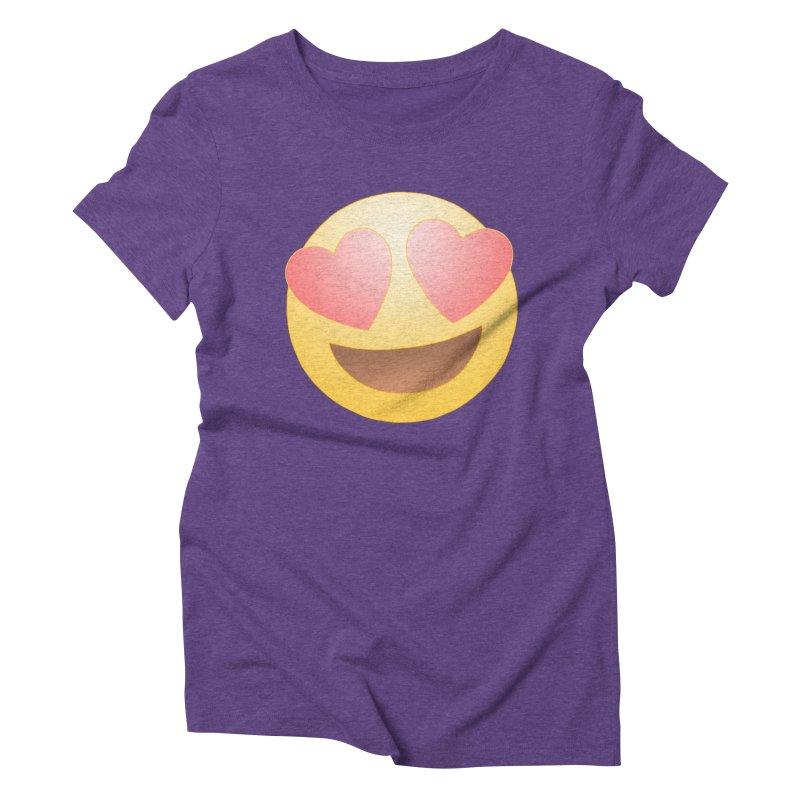 Emoji in Love Women's Triblend T-Shirt by BRETT WISEMAN