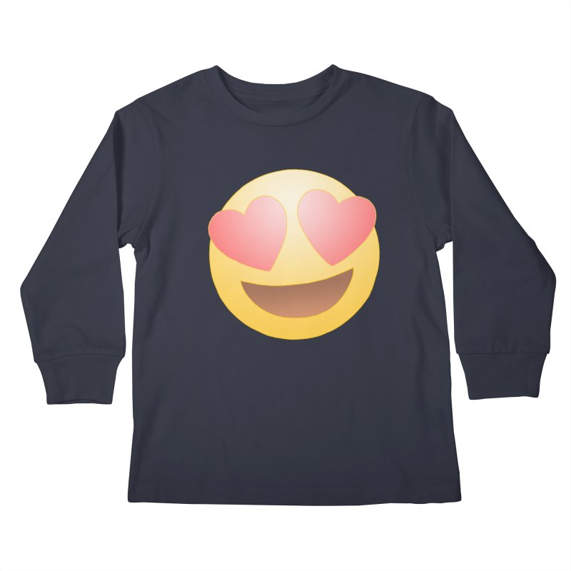 Emoji in Love Kids Longsleeve T-Shirt by BRETT WISEMAN