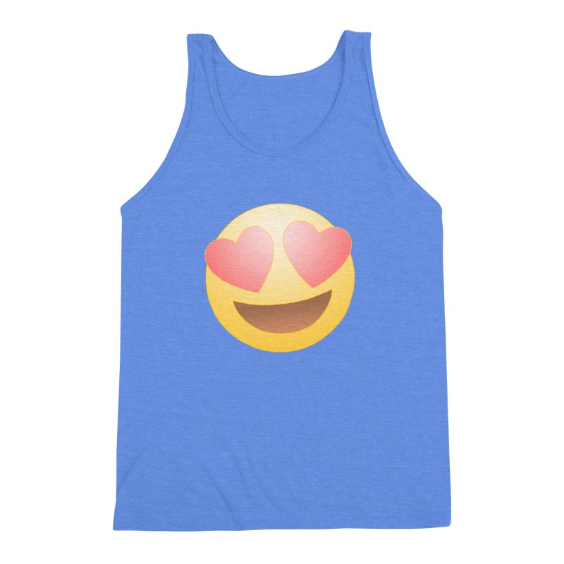 Emoji in Love Men's Triblend Tank by BRETT WISEMAN