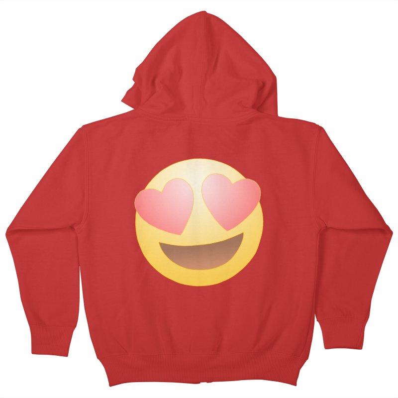 Emoji in Love Kids Zip-Up Hoody by BRETT WISEMAN