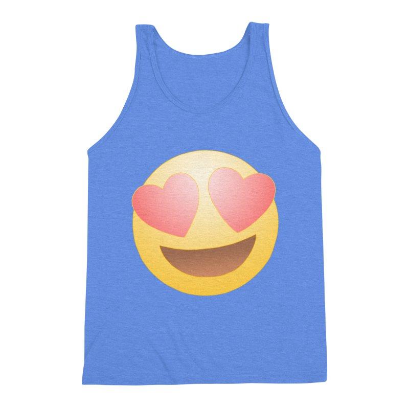 Emoji in Love Men's Triblend Tank by BRETT WISEMAN