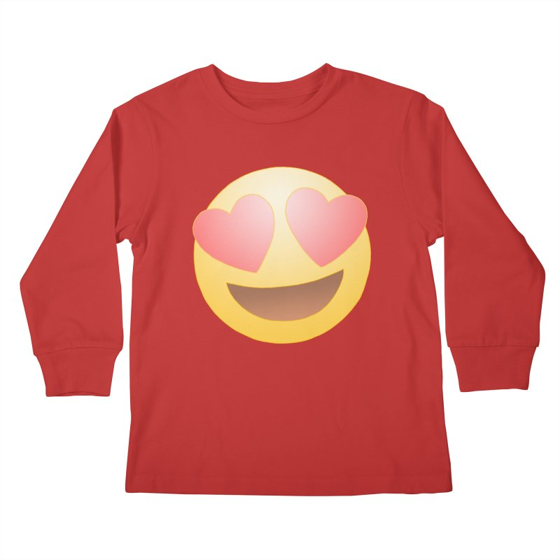 Emoji in Love Kids Longsleeve T-Shirt by BRETT WISEMAN