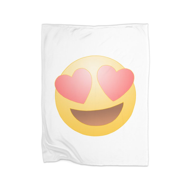 Emoji in Love Home Fleece Blanket Blanket by BRETT WISEMAN