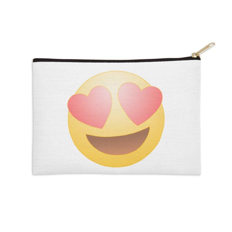Emoji in Love Accessories Zip Pouch by BRETT WISEMAN