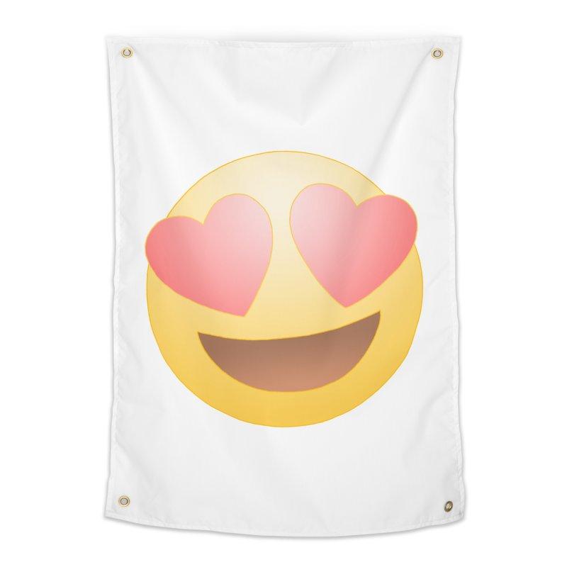 Emoji in Love Home Tapestry by BRETT WISEMAN