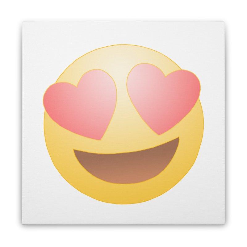 Emoji in Love Home Stretched Canvas by BRETT WISEMAN