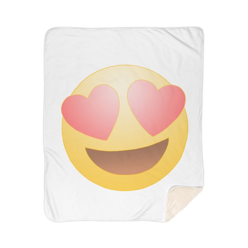 Emoji in Love Home Sherpa Blanket Blanket by BRETT WISEMAN