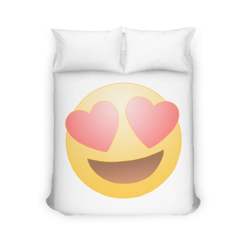 Emoji in Love Home Duvet by BRETT WISEMAN