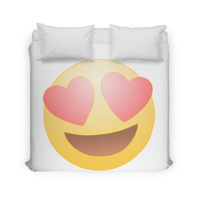 Emoji in Love Home Duvet by BRETT WISEMAN