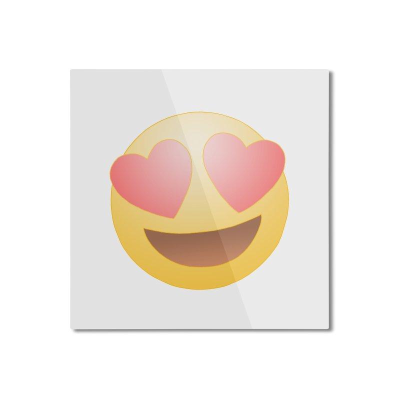 Emoji in Love Home Mounted Aluminum Print by BRETT WISEMAN