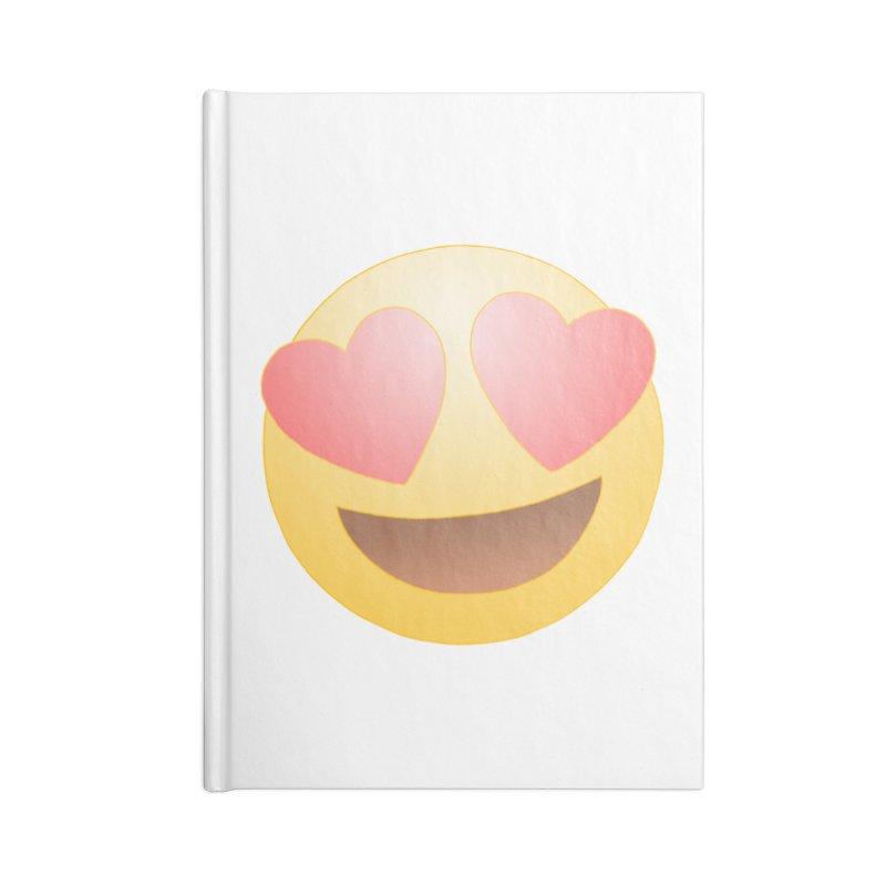 Emoji in Love Accessories Lined Journal Notebook by BRETT WISEMAN