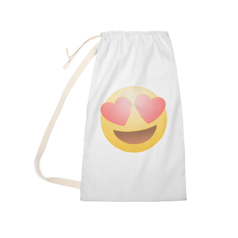 Emoji in Love Accessories Laundry Bag Bag by BRETT WISEMAN