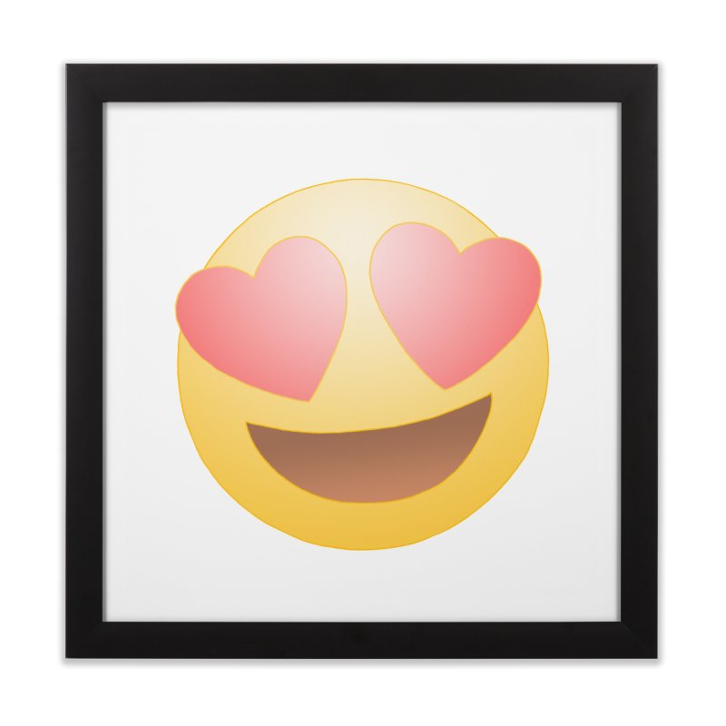 Emoji in Love Home Framed Fine Art Print by BRETT WISEMAN
