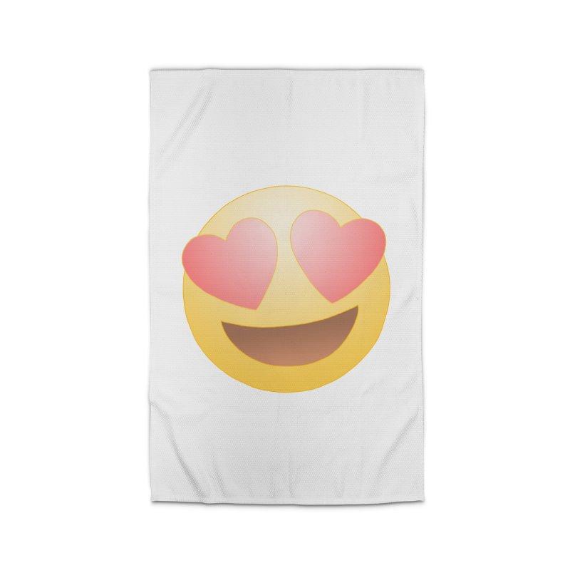 Emoji in Love Home Rug by BRETT WISEMAN