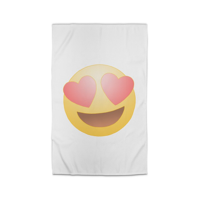 Emoji in Love Home Rug by BRETT WISEMAN