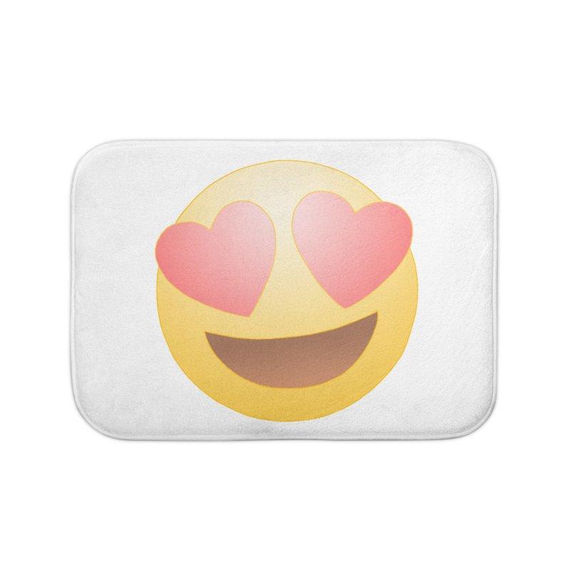 Emoji in Love Home Bath Mat by BRETT WISEMAN