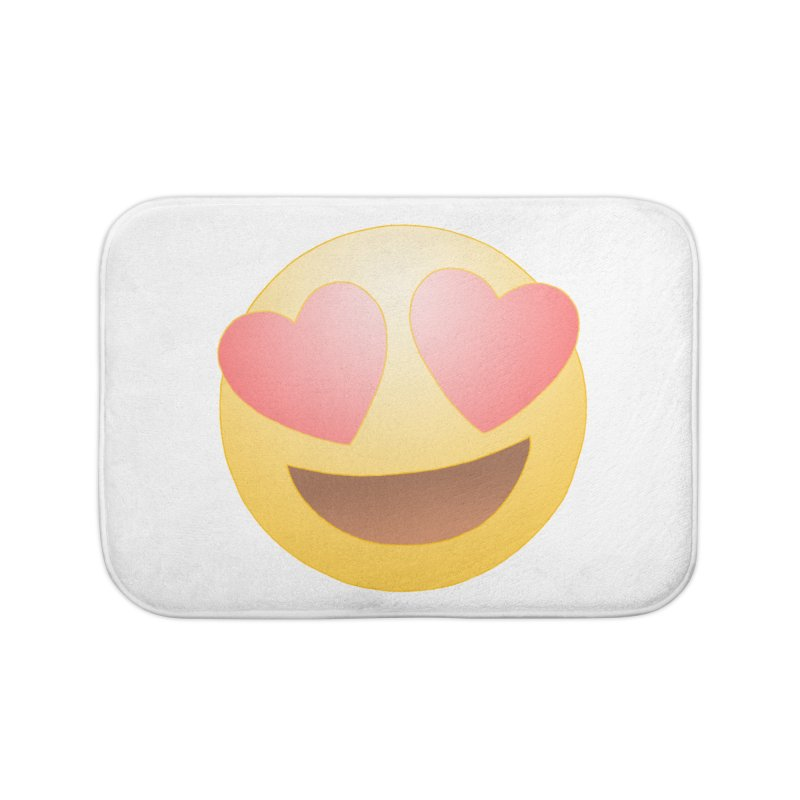 Emoji in Love Home Bath Mat by BRETT WISEMAN