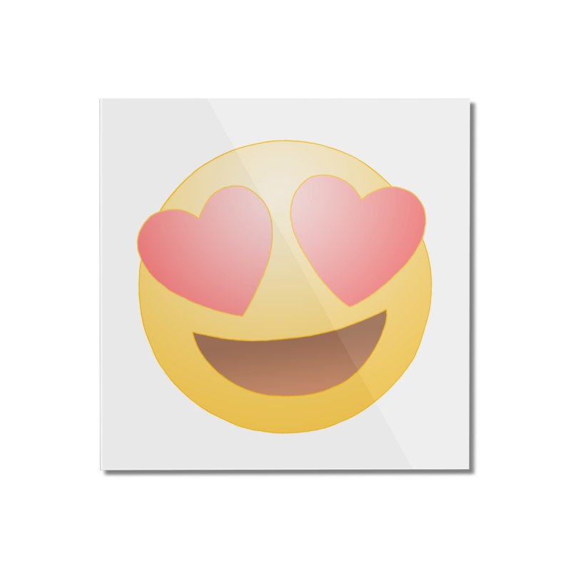 Emoji in Love Home Mounted Acrylic Print by BRETT WISEMAN