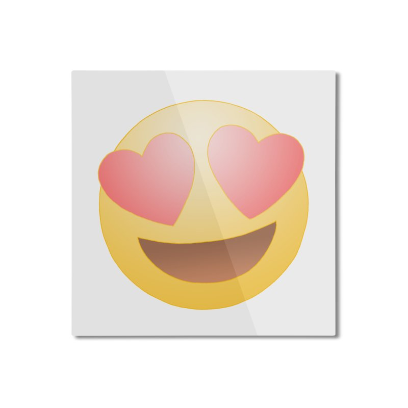 Emoji in Love Home Mounted Aluminum Print by BRETT WISEMAN