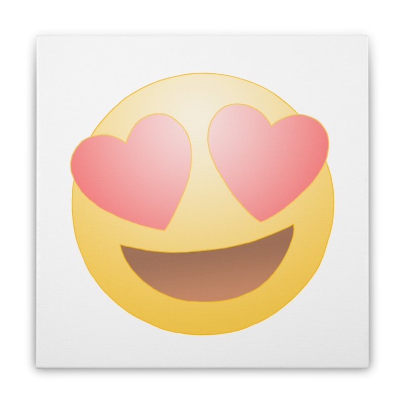 Emoji in Love Home Stretched Canvas by BRETT WISEMAN