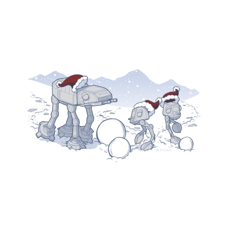 Happy Hoth-idays! Home Stretched Canvas by BRETT WISEMAN