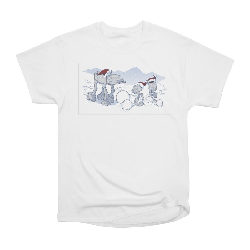 Happy Hoth-idays! Women's Heavyweight Unisex T-Shirt by BRETT WISEMAN