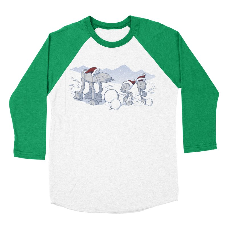 Happy Hoth-idays! Men's Baseball Triblend Longsleeve T-Shirt by BRETT WISEMAN