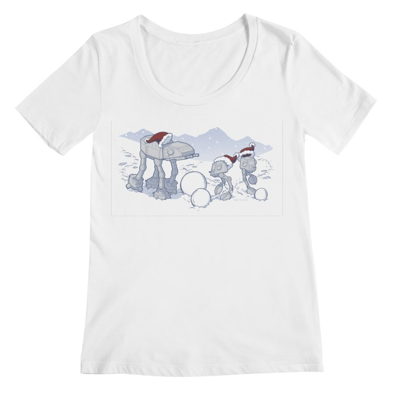 Happy Hoth-idays! Women's Scoopneck by BRETT WISEMAN