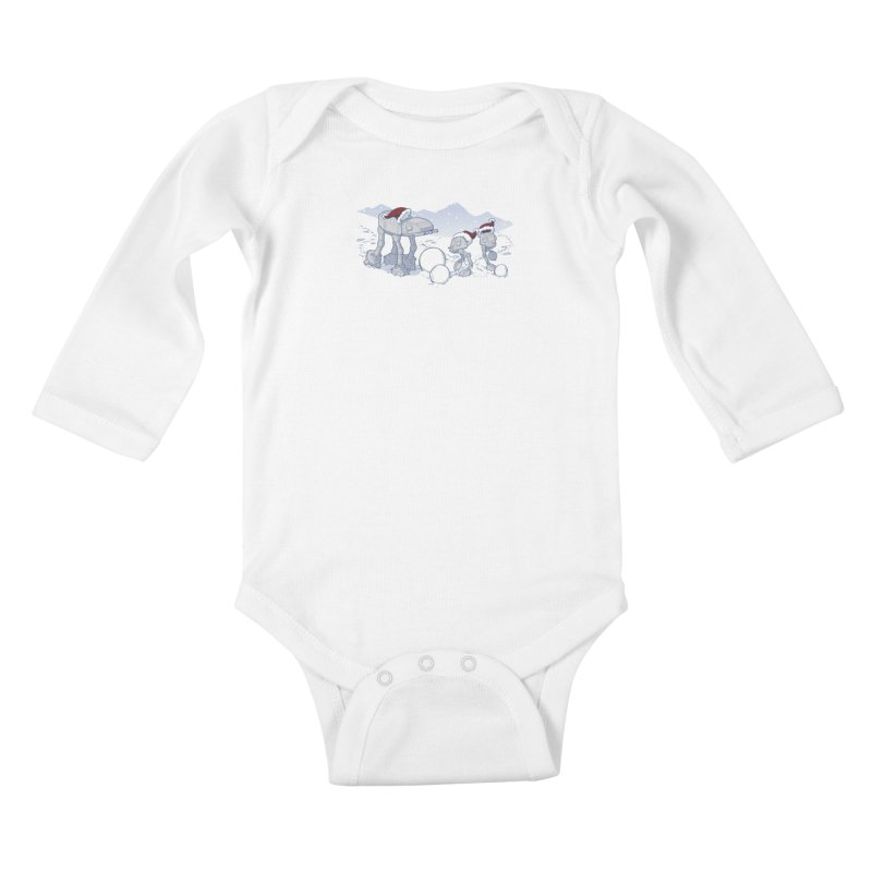 Happy Hoth-idays! Kids Baby Longsleeve Bodysuit by BRETT WISEMAN