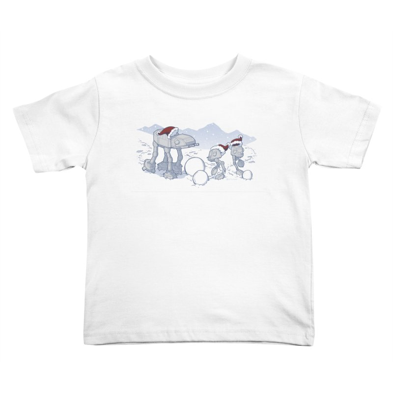 Happy Hoth-idays! Kids Toddler T-Shirt by BRETT WISEMAN