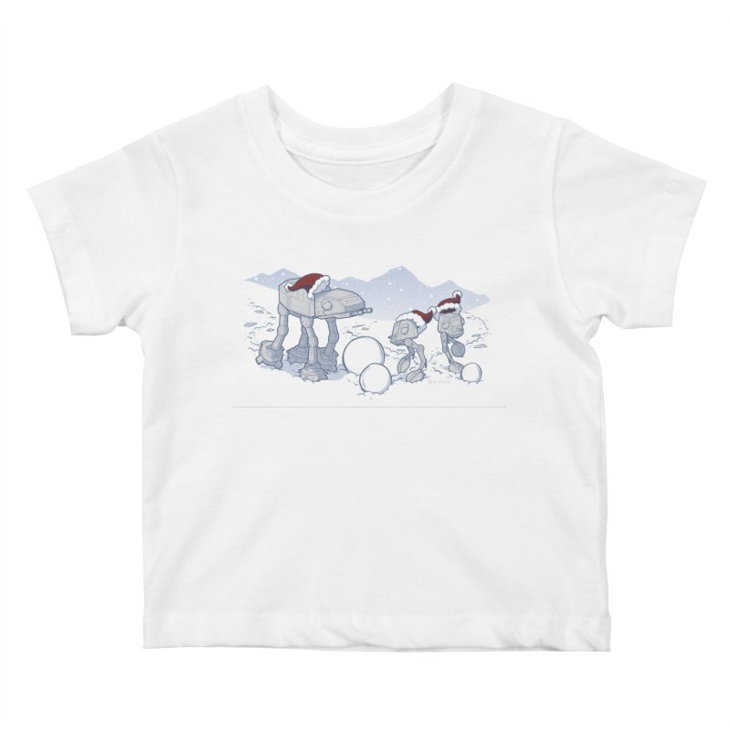 Happy Hoth-idays! Kids Baby T-Shirt by BRETT WISEMAN