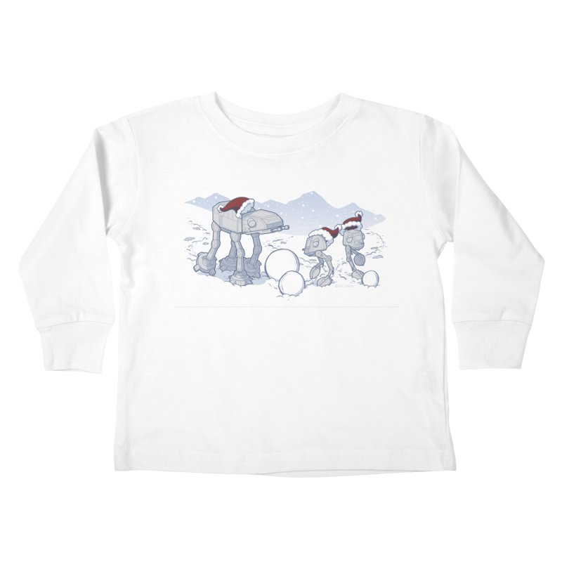Happy Hoth-idays! Kids Toddler Longsleeve T-Shirt by BRETT WISEMAN