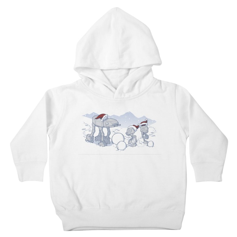 Happy Hoth-idays! Kids Toddler Pullover Hoody by BRETT WISEMAN
